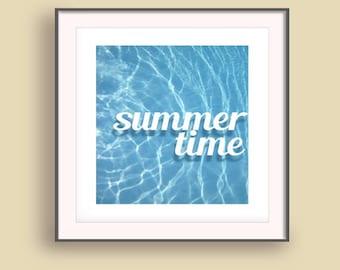Blue Wave art Print, Blue Summer Wall Art, Summer Wall Art 2017, Water decor prints, Summer Wall prints, Vacation art prints
