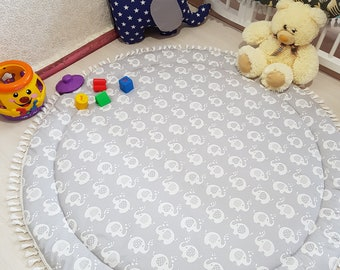 Baby Play Mat, Mat for baby's photos,Round Play Mat, Reversible Play Mat, Padded Baby Mat, Nursery Decor, Floor mat, Kids mat, Baby mat