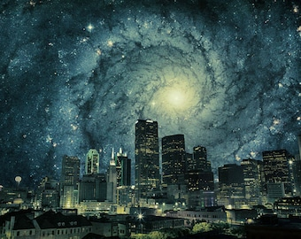Dallas at the Edge of Forever - Limited Edition Canvas Print - Dallas Texas Skyline