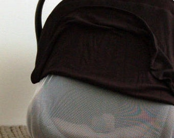 BLACK || Baby Carrier Cover - Car Seat Canopy - Baby Cover - NICU Cover - Do Not Touch - Screen Car Seat Cover - Preemie Carseat Cover