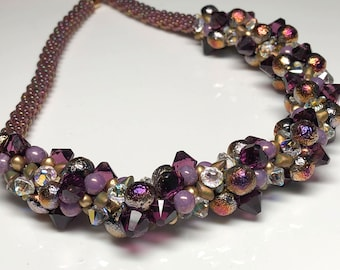KIT - Kumihimo Necklace - beads and cord only