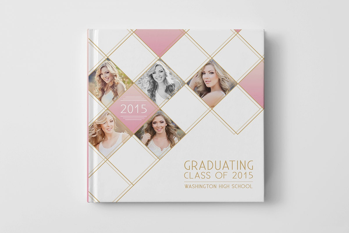 Photo Book Cover Template for Photographers Senior Album