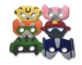 Rescue Bots Party Favors, Pack of 6, Recue Bots Party Masks, Rescue Bots Birthday, Transformers Birthday, Robot Party Masks