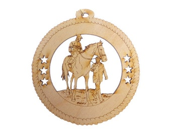 Horse Racing Ornament - Horse and Jockey Gift - Horse and Jockey Ornament - Horse Ornaments - Horse Racing Ornaments - Personalized Free