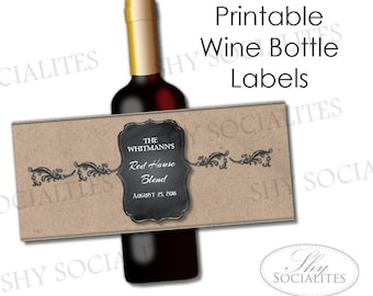 printable wine label
