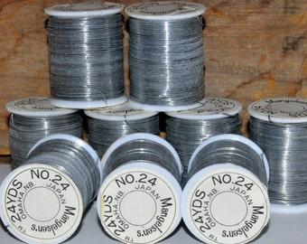 Craft Wire. 24 Gauge Wire. Silver Beading Wire. Bead Wire. Silver Wire. Jewelry Wire. Mangelsen's. Flexible Wire. Vintage Craft Supplies.