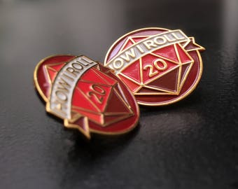 Dungeons & Dragons // d20 // How I Roll // Enamel Pin!