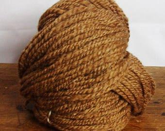 Hand Spun Yarn , Manx Loaghtan Wool , 100gm 12 Wpi Worstered , Aran Weight  Thick and Thin Yarn Natural Undyed