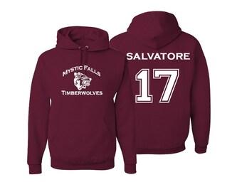 Vampire Diaries Mystic Falls Timberwolves Hoodie Salvatore 17