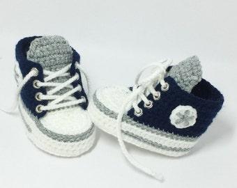Baby shoes, chucks, Gr. 16, marine blue