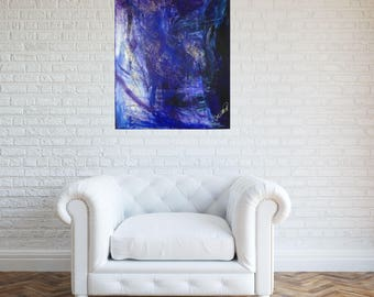 Original painting, abstract painting, Purple abstract, abstract painting purple, purple and blue abstract, acrylic painting, wall art