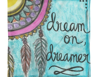 Dreamer - Square Pillow Cover. No insert.