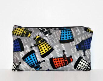 Dalek Toss Extra Small Wet Bag, Cloth Pad Wet Bag, Reusable Waterproof Bag, Beach Bag, Pool Bag, Makeup Bag
