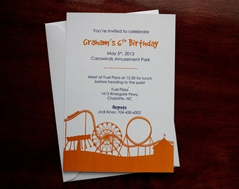 Roller Coaster - Party Invitation