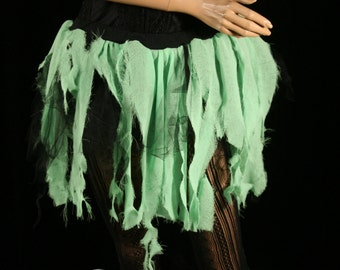 Adult tutu skirt Toxic trash Zombie Halloween creepy party costume bio hazard witch - Small - READY TO Ship- Sisters of the Moon