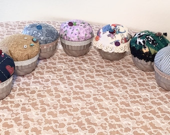 Set of 2 Mystery Up-Cycled Handmade Pin Cushions