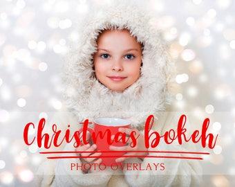 50 Christmas bokeh overlays