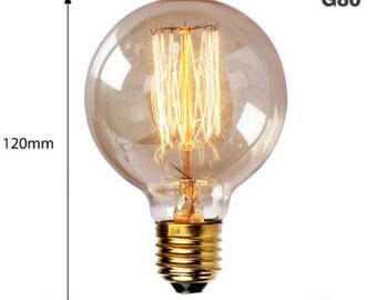 Vintage Edison ampoule E27 220V 40W - rond Filament