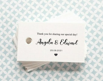 Favour Tags - Personalised Wedding Favour tags -  Thank you favour tags - Foiled Favour Tags