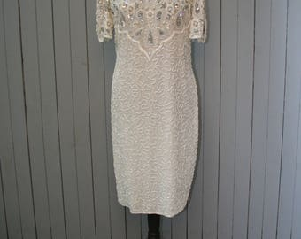 Vintage Beaded Shift Dress