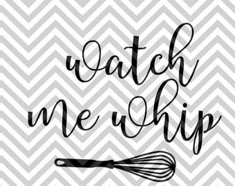 Watch me whip-SVG DXF cut file