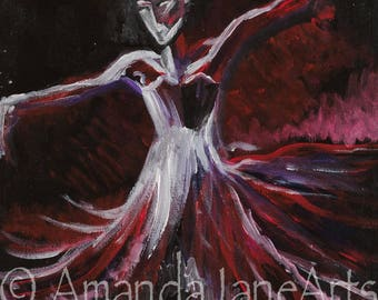 Ballerina, dancer, original, acrylic. stretched canvas , 1 only,picture, art, abstract,gift