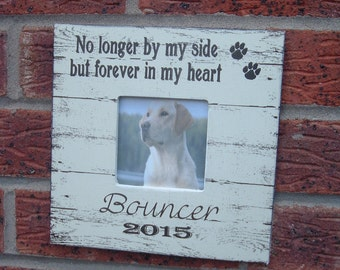 Pet sympathy memorial dog cat picture frame gift photo frame personalized pet 8x8 inch