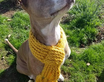 Knitted doggie scarf
