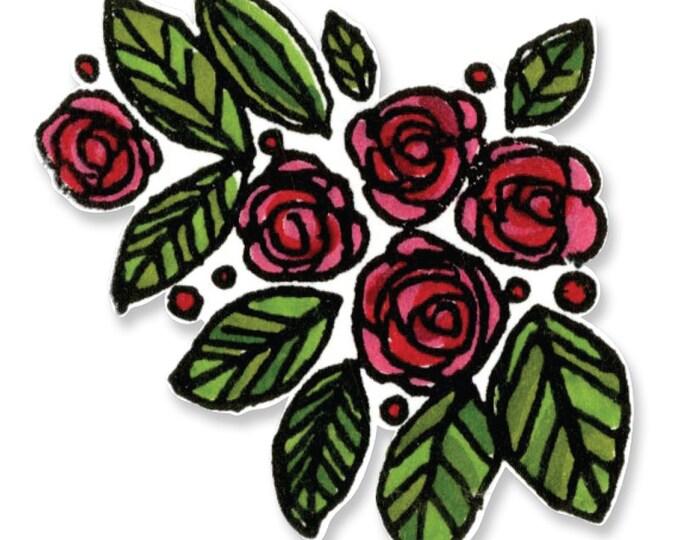 New! Sizzix Framelits Die Set 8PK w/ Clear Stamps - Beautiful You by Stephanie Ackerman 659950