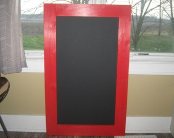 Chalkboard framed chalkboard extra large  Apple red color  40 x 24 inches