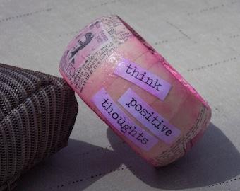Pink Decoupage Bracelet