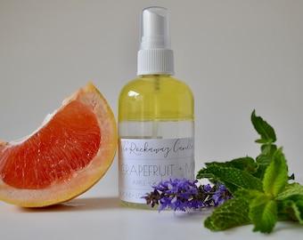 Grapefruit + Mint Room Spray, Bathroom Spray, Linen Spray, Body Spray, Handmade, Organic, Wholesale, Bulk