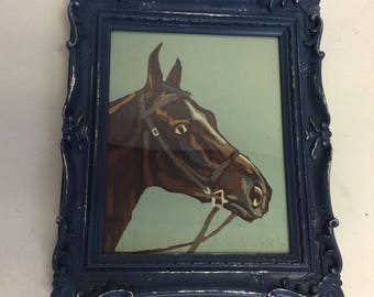 Vintage Horse Framed PAINT BY NUMBER painting