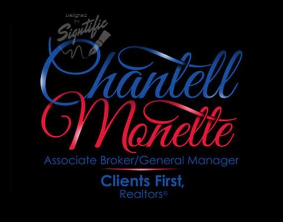 Real Estate Agent Logo, Email Signature, Name Signature Logo, Corporate Logo, Blue and Red Logo, Calligraphy Logo, Logo for Business