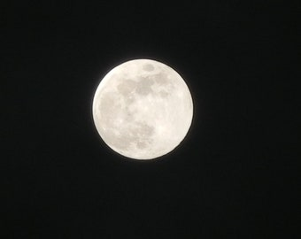 Digital picture of the Blue Moon March 31 2018