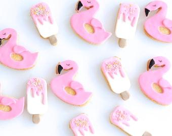 Pool Flamingo and Ice Cream Cookies
