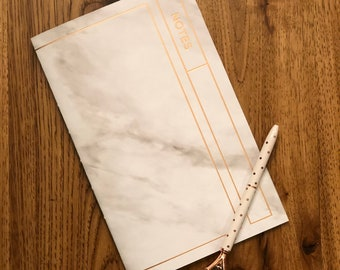 40 page journal with marbled cover