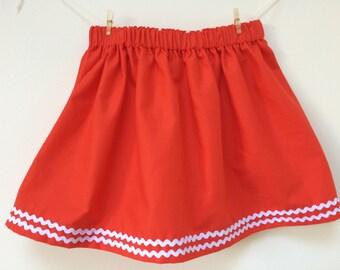 Ric Rac Skirt | Girls party Skirt | Girls Summer Skirt | Handmade skirt | Twirl skirt | Baby skirt | Baby gift | Girls Holiday Skirt