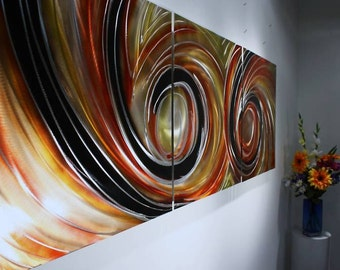 Wilmos Kovacs Large Contemporary Painting on Metal, Wall Art Sculpture, Abstract Art, Metal Wall Art - W183