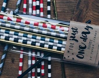 Pirate | Paper | Straws | traditional | stripe | birthday | party | wedding | baby shower | Children's | kids | straws | red | black | blue