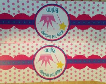 Princess Crown Water Bottle Labels