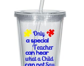 Autism Teacher Tumbler