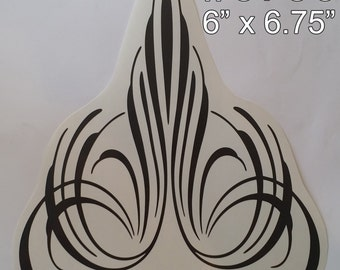 1 Small Custom Pinstriping Decal / Sticker - Choose from 5 Designs & Many Colors