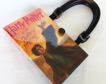 Harry Potter and The Deathly Hallows Book Purse - Harry Potter Book Cover Handbag - Deathly Hallow Book Clutch - Harry Potter Collector Gift