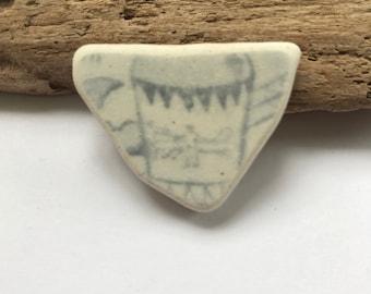 Scenic scottish sea pottery