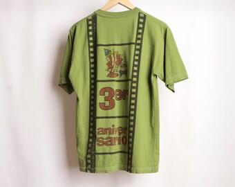 Vintage FILM espagnol des années 90 au Mexique latin 3e anniversaire Hoyt General Cinema haut t-shirt