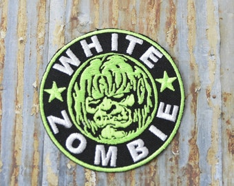 Green Monster Zombie Embroidered Iron On Or Sew On Patch