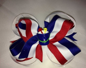 fourth of July /Red,White and Blue Hair Bow