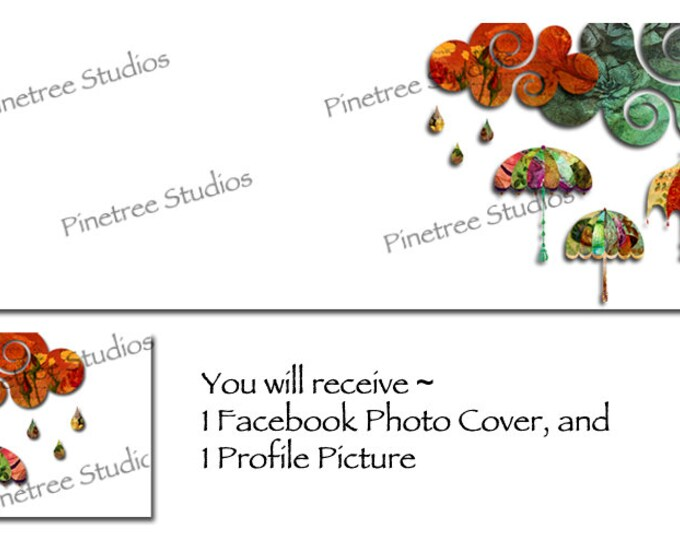 Autumn Rain ~ Facebook Blank Cover Photo and Profile Picture