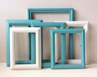 Gallery Wall Frames - Annie Sloan, Provence, Old White, Gallery Wall Frame Set, Old Frames, Gallery Wall, Recycled Frames.